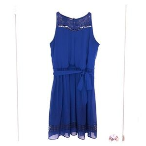 Girls Navy Blue Amy Byer Dress